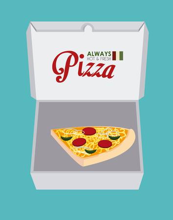aliment: Pizza design over blue background, vector illustration
