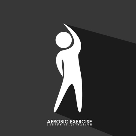 aerobics exercise design, vector illustration eps10 graphic