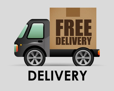 free shiping: transport vehicle design, vector illustration eps10 graphic