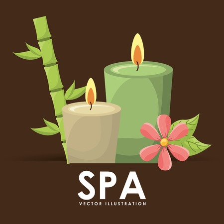 bamboo therapy: spa poster design, vector illustration eps10 graphic