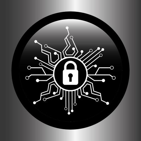Sicherheitssystem-Design, Vektor-Illustration eps10 Grafik Vektorgrafik