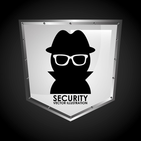 intruder: security shield design, vector illustration eps10 graphic
