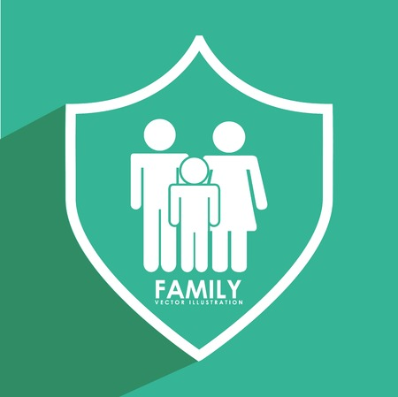 insurance protection: insurance family design, vector illustration eps10 graphic