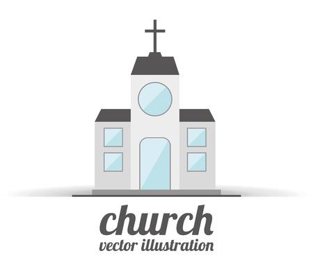 steeple: church building design, vector illustration eps10 graphic Illustration