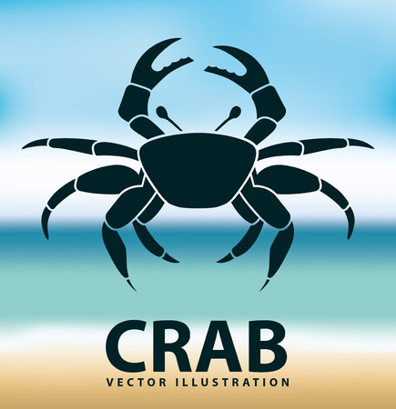 crab icon design, vector illustration eps10 graphic Ilustração