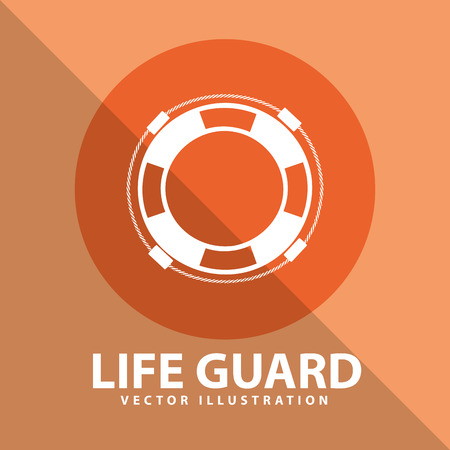 life insurance: life guard design, vector illustration eps10 graphic Illustration