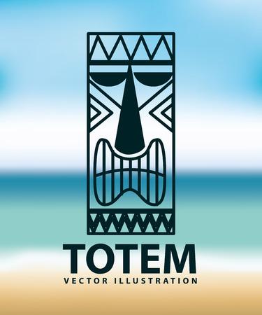 polynesian ethnicity: totem icon design, vector illustration eps10 graphic