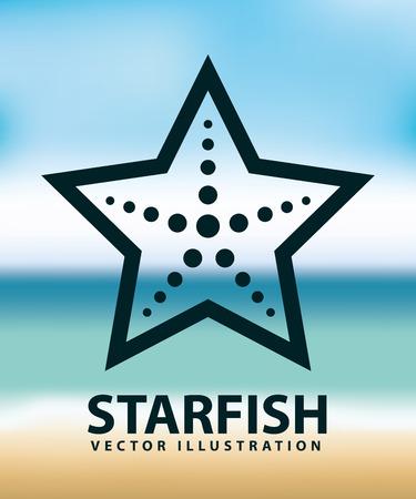 seafish: starfish design, vector illustration eps10 graphic