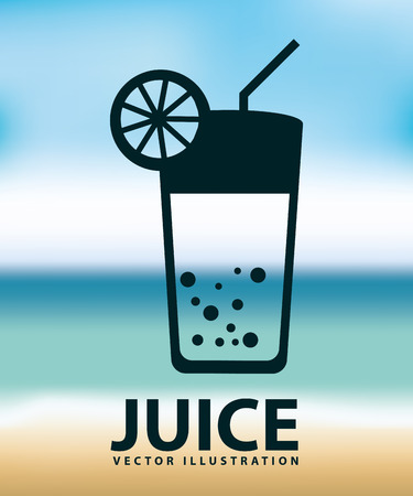 juice icon design, vector illustration eps10 graphic Illustration