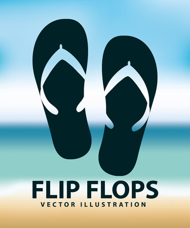 flops: flip flops design, vector illustration eps10 graphic