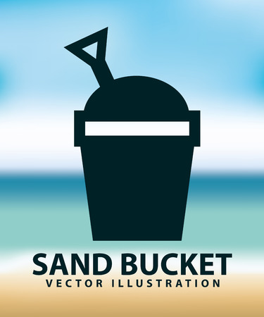 children sandcastle: sand bucket design, vector illustration eps10 graphic