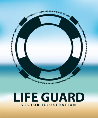 life guard: life guard design, vector illustration eps10 graphic Illustration