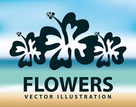 bloemen ontwerp, vector illustratie eps10 grafische