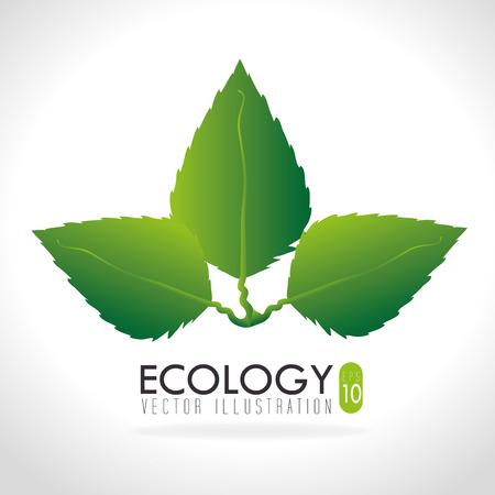 enviromental: Dise�o de Ecolog�a sobre fondo blanco, ilustraci�n vectorial Vectores