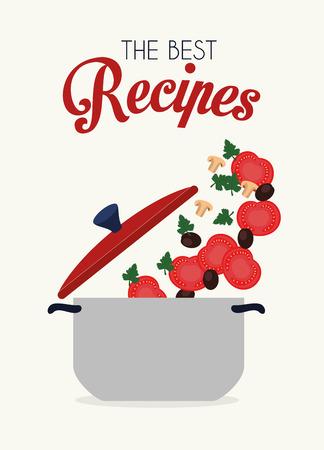 Kitchen design over white background, vector illustration. Vector