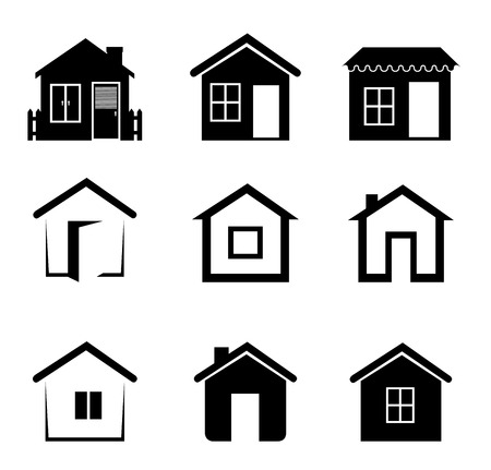 house icon: Real estate over white background, vector illustration.