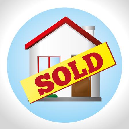 house illustration: Real estate over white background, vector illustration.