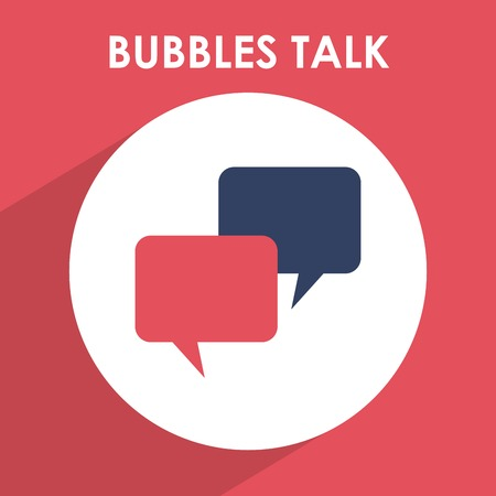 talking: bubbles talk design, vector illustration eps10 graphic