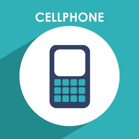 cellphone icon design, vector illustration eps10 graphic Vector