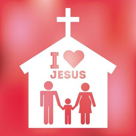 church family: jesus christ design, vector illustration eps10 graphic
