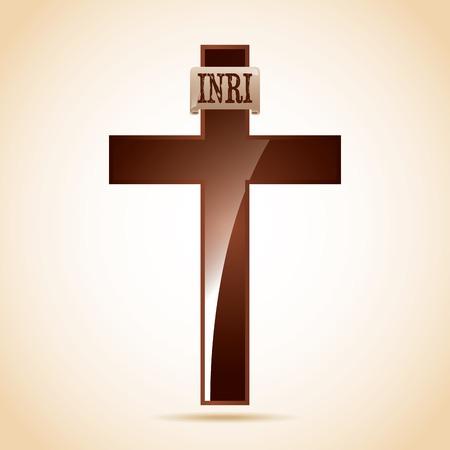 inri: cross icon design, vector illustration eps10 graphic
