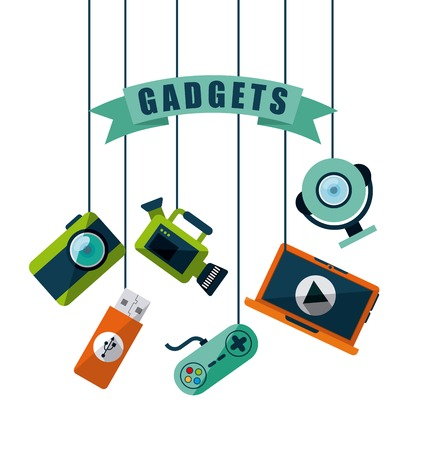 gadgets tech design, vector illustration eps10 graphic Ilustração