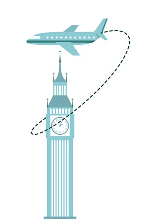 time fly: airplane travel design, vector illustration eps10 graphic Illustration
