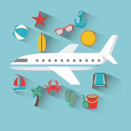 airplane: airplane travel design, vector illustration eps10 graphic Illustration
