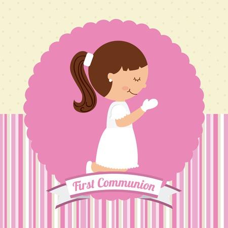 divine: eerste communie ontwerp, vectorillustratie eps10 grafische