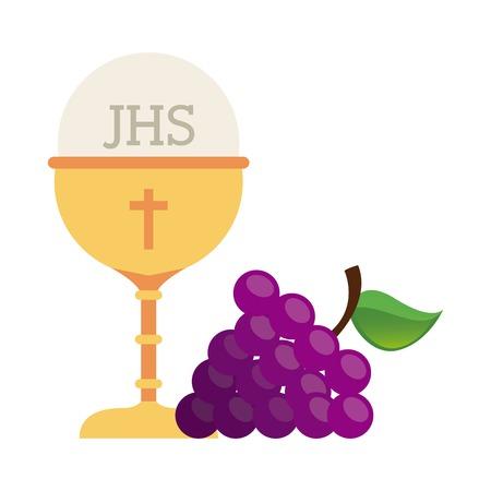 first communion design, vector illustration eps10 graphic