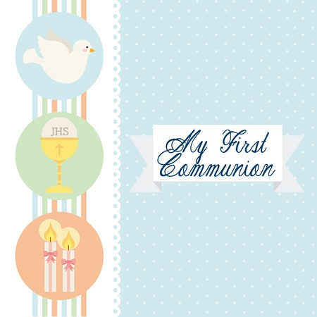 doves: first communion design, vector illustration eps10 graphic