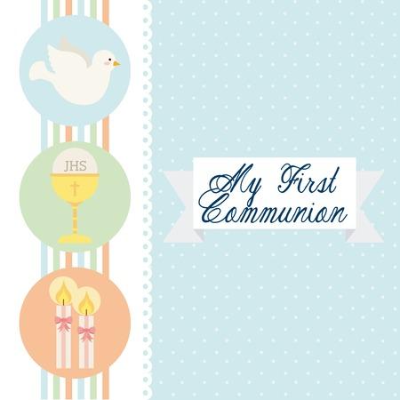 eucharistie: premier mod�le de la communion, illustration graphique eps10
