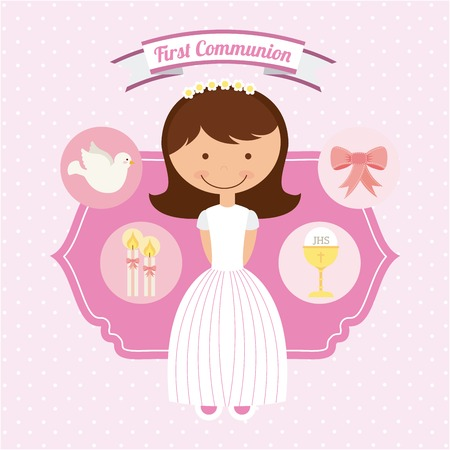 holy communion: first communion design, vector illustration eps10 graphic