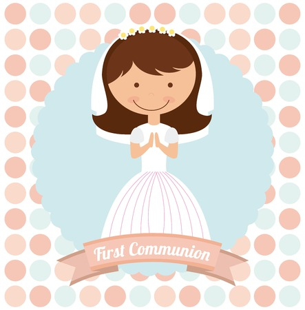 first communion: first communion design, vector illustration eps10 graphic