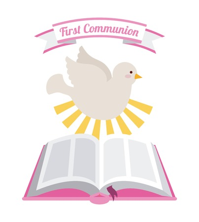 holy cross: first communion design, vector illustration eps10 graphic