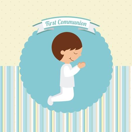 COMUNION: primera comunión diseño, ilustración vectorial gráfico eps10