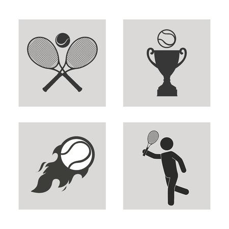 Sports design over white background, vector illustration. Vector