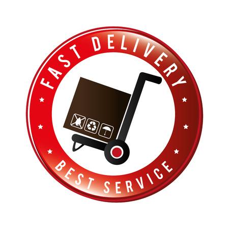 illustraton: Delivery design over white background, vector illustraton. Illustration