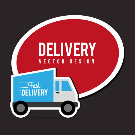 illustraton: Delivery design over gray background, vector illustraton. Illustration