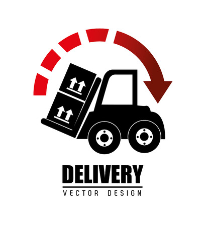 article marketing: Delivery design over white background, vector illustraton. Illustration