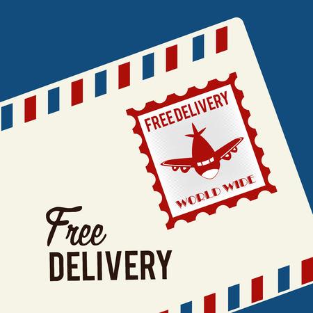 illustraton: Delivery design over blue background, vector illustraton.