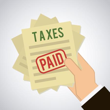 税金のアイコンのデザイン、ベクター イラスト eps10 グラフィック