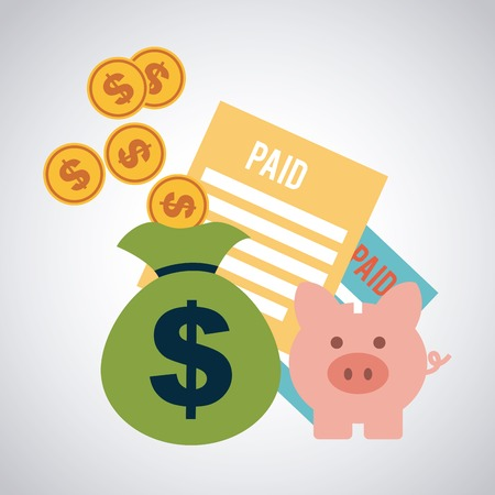 debt collection: taxes icon design, vector illustration eps10 graphic