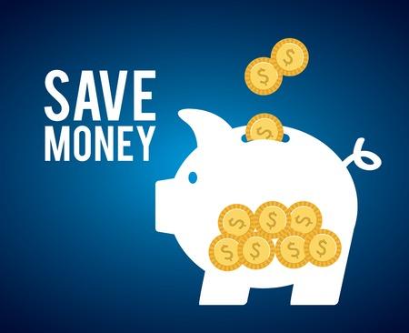 save money design, vector illustration eps10 graphic