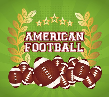 gold leafs: american football design, vector illustration eps10 graphic