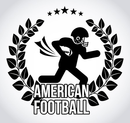 american football design, vector illustration eps10 graphic Vector