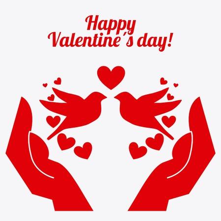 love birds: valentines day design, vector illustration eps10 graphic