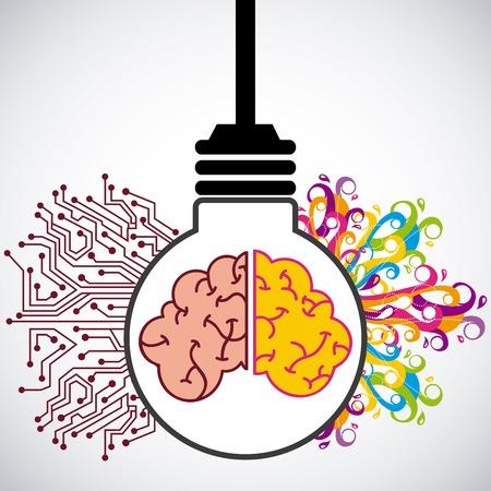 idea icon design, vector illustration eps10 graphic Ilustração