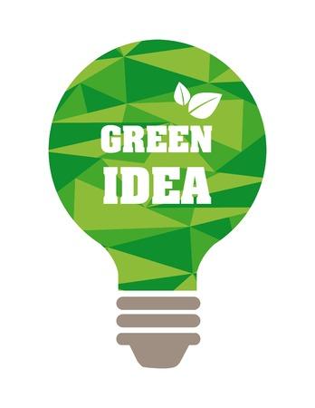 think green design, vector illustration eps10 graphic Vector