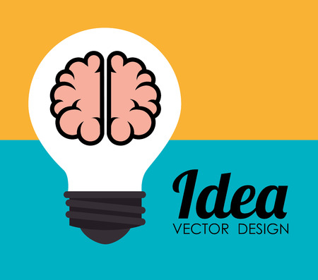 practical: Ideas design over colorful background, vector illustration.
